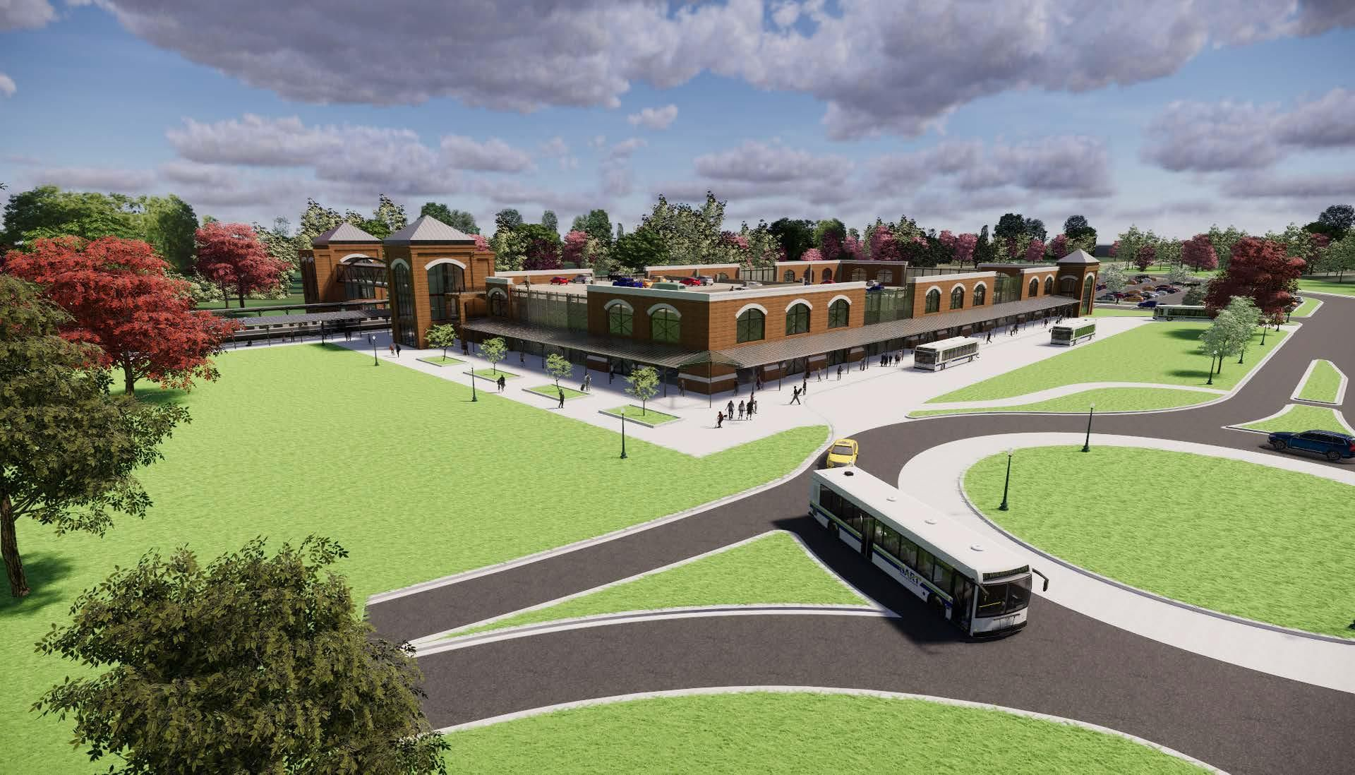 Claymont Train Station rendering Delaware business