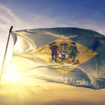 Delaware state of United States flag