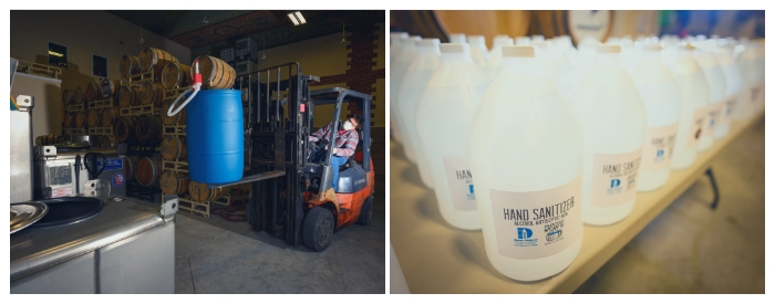 Delaware's Painted Stave Distillery hand sanitizer for first responders