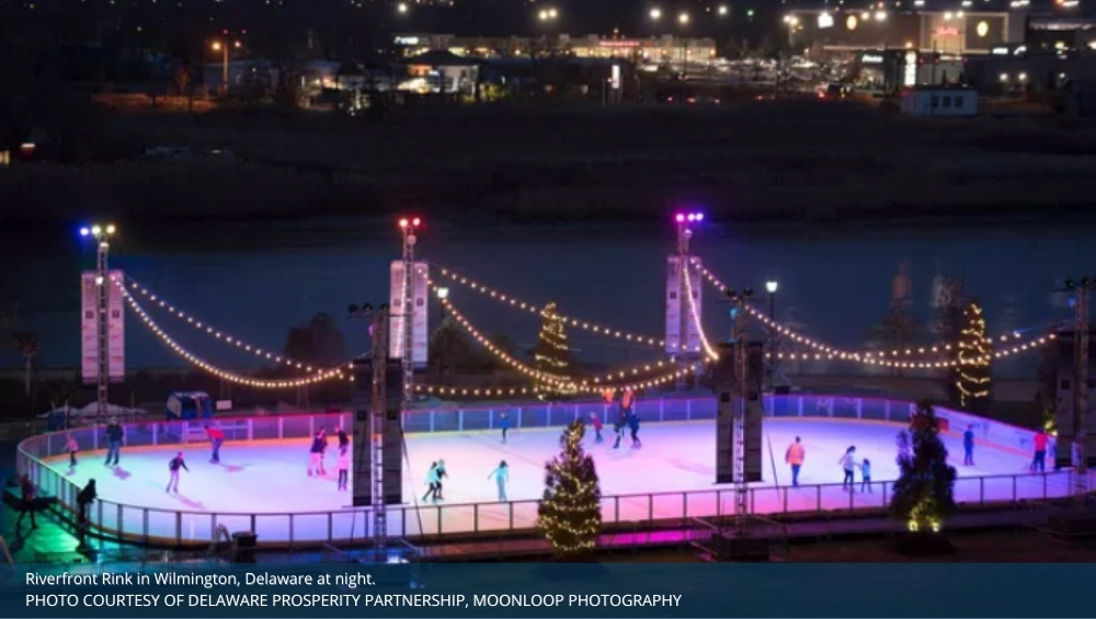 Riverfront ice rink Wilmington Delaware