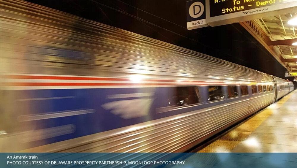 Delaware Amtrak train